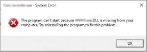 missing dll files