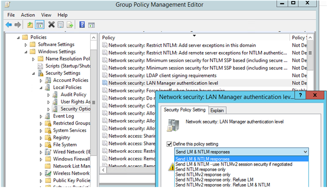 disable NTLM authentication in windows domain