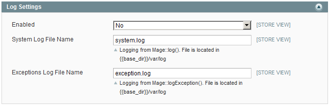 optimize magento disable log