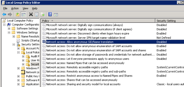 How to prevent anonymous login and ban IP address of attacker in Windows