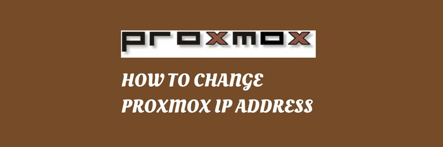 Proxmox change IP address in 3 simple steps