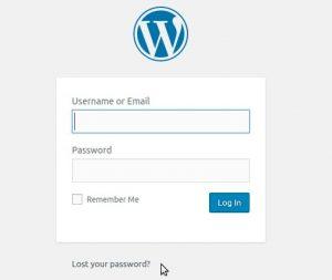 Reset WordPress admin password via email