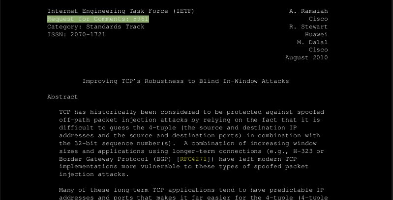 """Off-path"" TCP attacks"