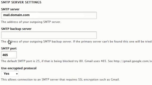 Drupal 8 SMTP settings - How we set up and fix related errors