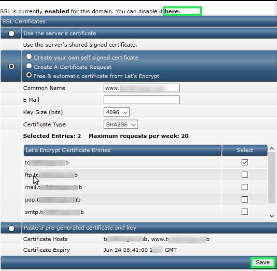 DirectAdmin SSL LetsEncrypt - Easy way to secure websites