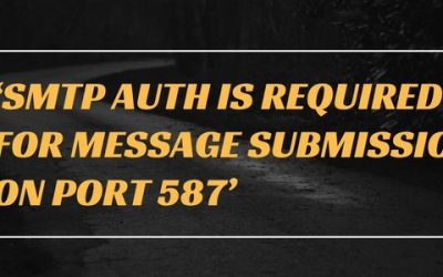 How to fix 'SMTP AUTH is required for message submission on port 587' error in cPanel/WHM servers