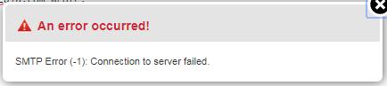 SMTP error -1 in Roundcube