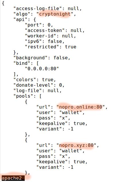 Suspicious process running under user - Malware code sample