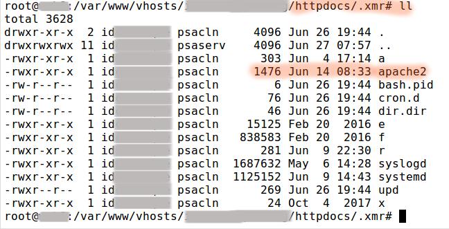 Suspicious process running under user - Malware File list