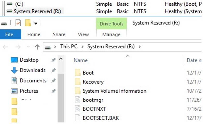 'Couldn't Update the System Reserved Partition' on Windows 10