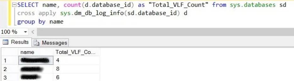 virtual log files in sql server