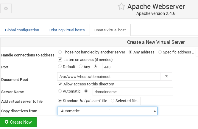Install SSL certificate on Apache with Webmin – Related errors and