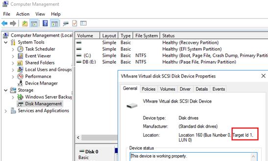 match windows disks to vmware vmdk files