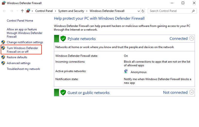 windows error code 0x800f0922