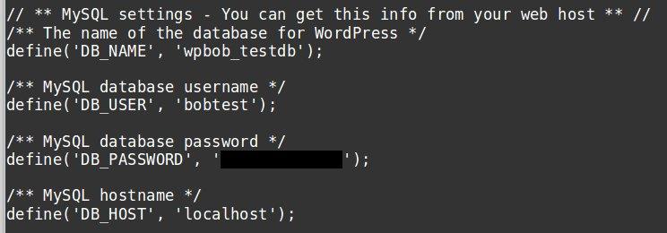WordPress error establishing database connection MySQL database credentials