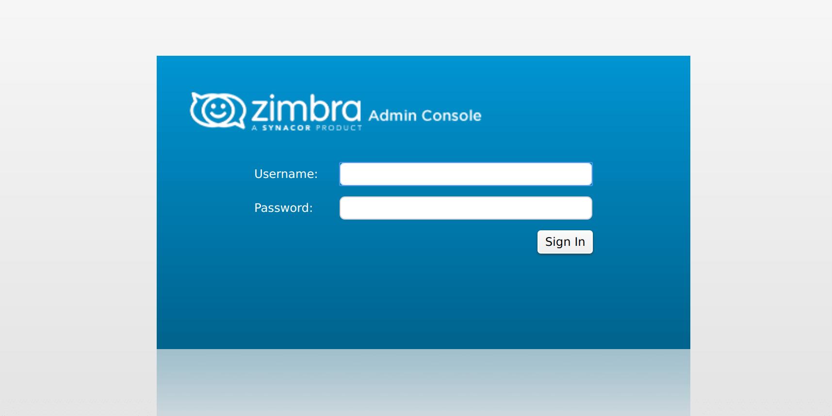 Zimbra on Docker Container